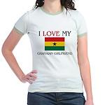 I Love My Ghanaian Girlfriend Jr. Ringer T-Shirt