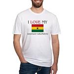 I Love My Ghanaian Girlfriend Fitted T-Shirt