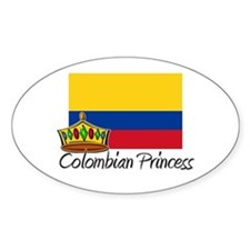Colombian Princess Oval Decal