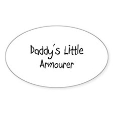 Daddy's Little Armourer Oval Decal