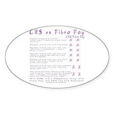 CRS vs. Fibro Fog Oval Decal