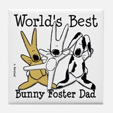 World's Best Bunny, Rabbit Foster Dad Tile Coaster