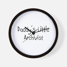Daddy's Little Archivist Wall Clock