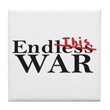 End This War Tile Coaster