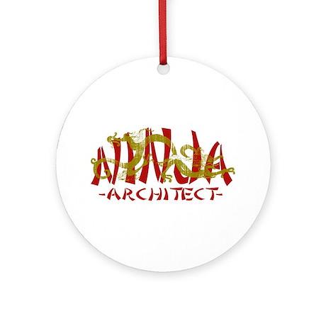 Dragon Ninja Architect Ornament (Round)