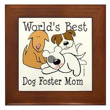 World's Best Dog Foster Mom Framed Tile