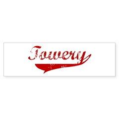 Towery (red vintage) Bumper Bumper Sticker