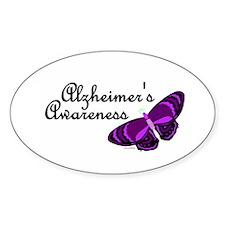 Butterfly Awareness 3 (Alzheimers) Oval Decal