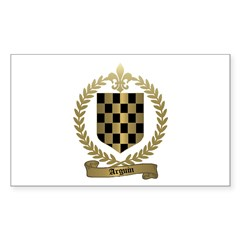 ARGUIN Family Crest Rectangle Decal