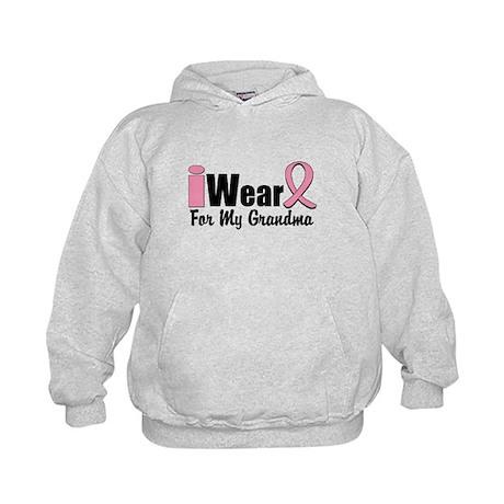 I Wear Pink Grandma Kids Hoodie
