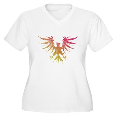Phoenix - Vintage Women's Plus Size V-Neck T-Shirt