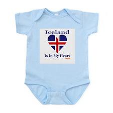 Iceland - Heart Infant Bodysuit