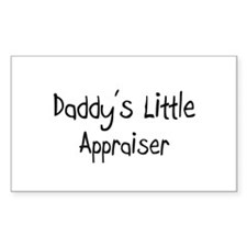 Daddy's Little Appraiser Rectangle Decal