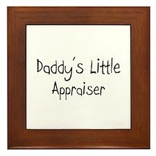 Daddy's Little Appraiser Framed Tile