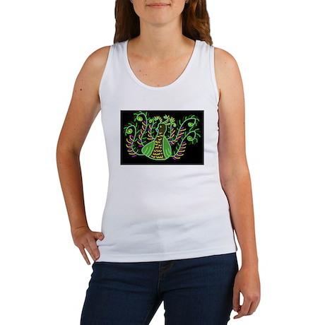 Glowing Peacock Women's Tank Top