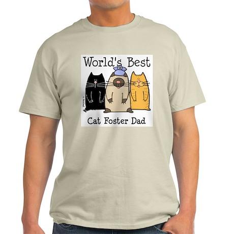 World's Best Cat Foster Dad Light T-Shirt