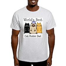 World's Best Cat Foster Dad T-Shirt