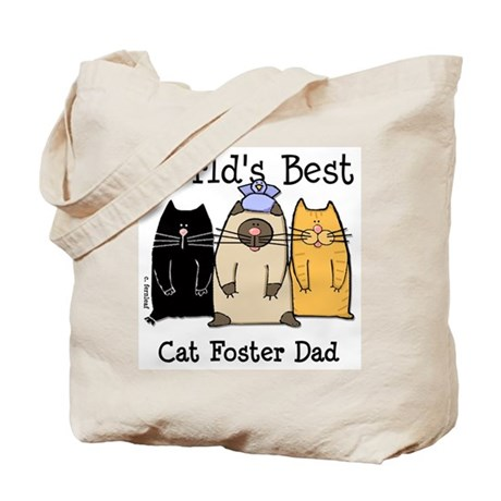 World's Best Cat Foster Dad Tote Bag