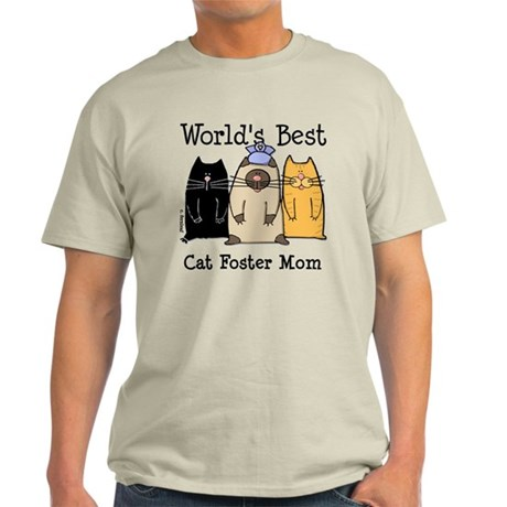 World's Best Cat Foster Mom Light T-Shirt