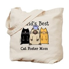 World's Best Cat Foster Mom Tote Bag