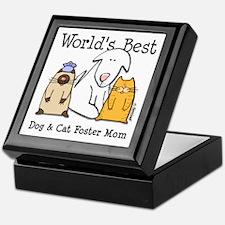 World's Best Dog, Cat Foster Mom Keepsake Box