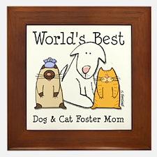 World's Best Dog, Cat Foster Mom Framed Tile