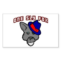 One Sly Fox Rectangle Decal