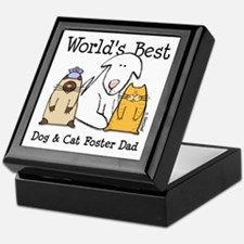 World's Best Dog, Cat Foster Dad Keepsake Box