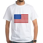 United States Flag White T-Shirt