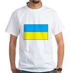 Ukranian Flag White T-Shirt