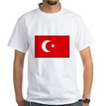 Turkish Flag White T-Shirt