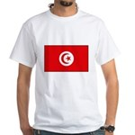 Tunisian Flag White T-Shirt