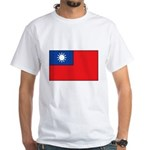 Taiwanese Flag White T-Shirt