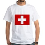 Swiss Flag White T-Shirt