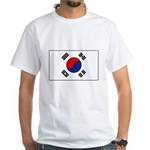 South Korean Flag White T-Shirt