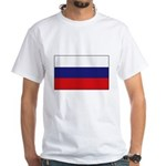 Russian Flag White T-Shirt