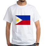 Philippines Flag White T-Shirt