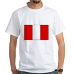 Peruvian Flag White T-Shirt