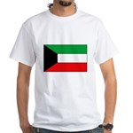 Kuwait Flag White T-Shirt