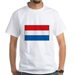 Luxembourg Flag White T-Shirt
