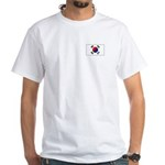 Korea Flag White T-Shirt
