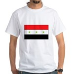 Iraqi Flag White T-Shirt