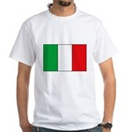 Italian Flag White T-Shirt