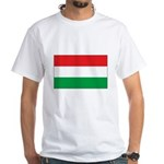 Hungarian Flag White T-Shirt