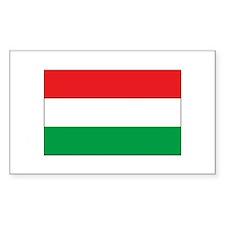 Hungarian Flag Rectangle Decal