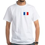 French Flag White T-Shirt