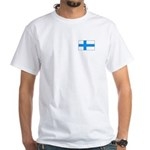 Finnish Flag White T-Shirt