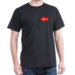 Danish / Denmark Flag Dark T-Shirt
