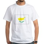 Cyprus Flag White T-Shirt