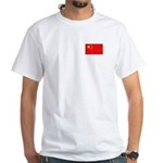 Chinese Flag White T-Shirt